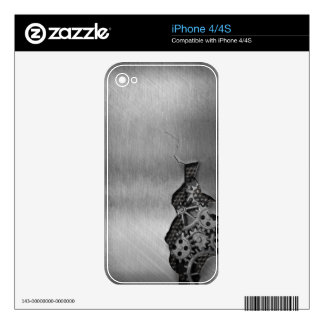 Metal background with mechanical damage skins for the iPhone 4S