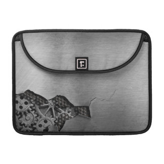 Metal background with mechanical damage sleeve for MacBooks