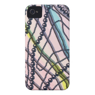 METAL BEADS n CORDS DESIGN  iPhone 4 Case