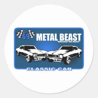 "Metal Beast ""Unleash The Beast"" Classic Round Sticker"