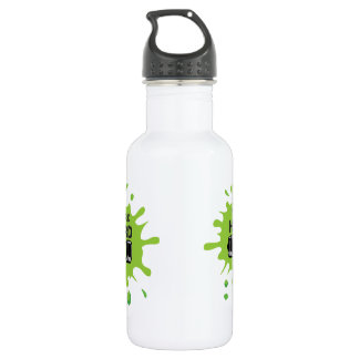 METAL BEVERAGE CANISTER WITH WORK HARD PRINT WATER BOTTLE