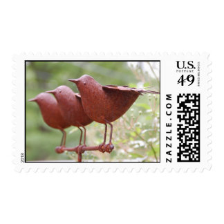 Metal Birds Postage Stamp