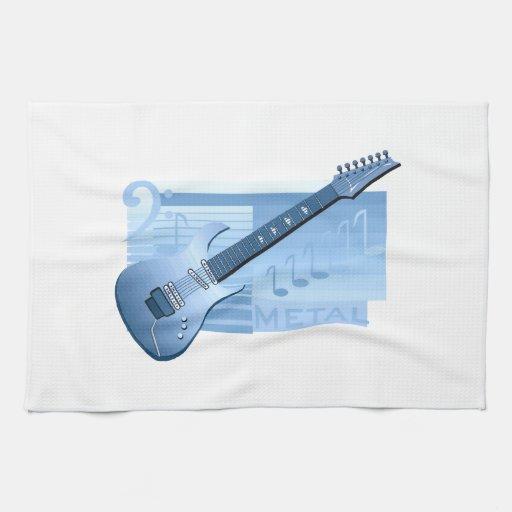 metal blue.png de la guitarra eléctrica toalla de mano