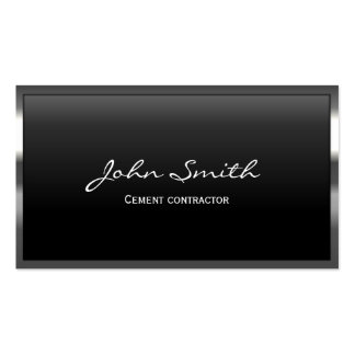 Metal Border Cement Contractor Business Card
