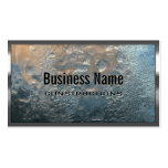 Metal Border Ice Wall Construction Business Card