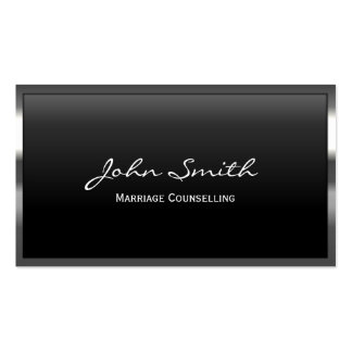 Metal Border Marriage Counselling Business Card
