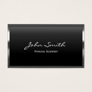 Metal Border Physical Scientist Business Card