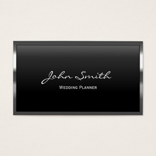 metal border wedding planner business card - Wedding Planner Business Cards