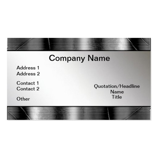 Metal Borders Look Professional Business Cards
