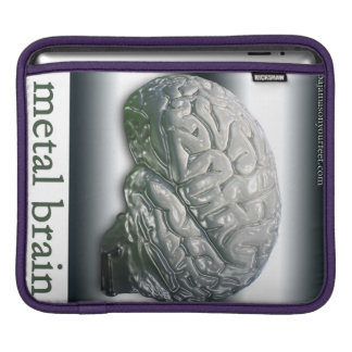 metal brain iPad cover