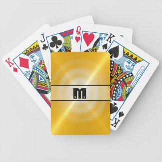 Metal brillante 2 del acero inoxidable del oro baraja cartas de poker