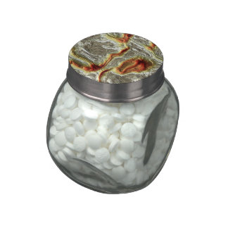 Metal brillante 3 (i) jarras de cristal