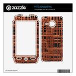 metal brillante aflautado de cobre 3d HTC droid eris calcomanía