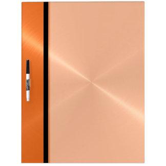 Metal brillante anaranjado fresco del acero inoxid pizarras blancas de calidad