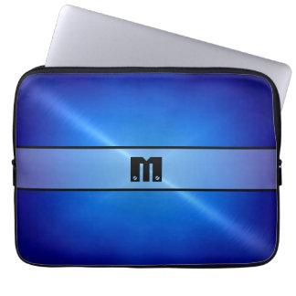 Metal brillante azul 2 del acero inoxidable mangas computadora