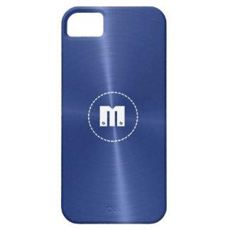 Metal brillante azul marino del acero inoxidable iPhone 5 carcasa
