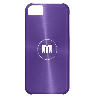 Metal brillante azul púrpura del acero inoxidable funda para iPhone 5C