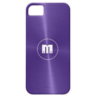 Metal brillante azul púrpura del acero inoxidable iPhone 5 carcasas