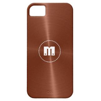 Metal brillante de cobre 2 del acero inoxidable iPhone 5 carcasas