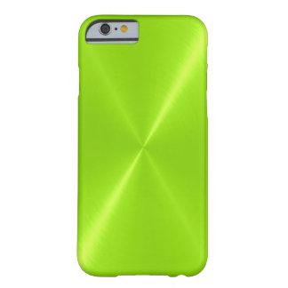 Metal brillante del acero inoxidable de la verde funda de iPhone 6 slim