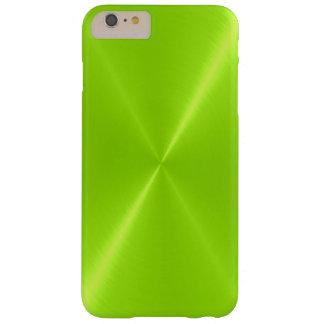 Metal brillante del acero inoxidable de la verde funda de iPhone 6 plus barely there