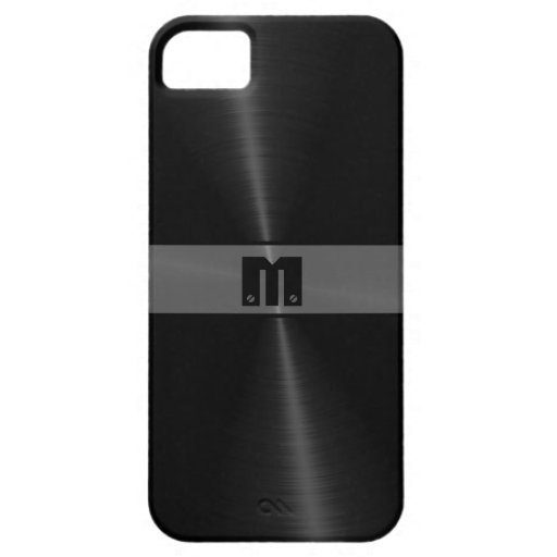 Metal brillante negro 7 del acero inoxidable iPhone 5 Case-Mate carcasa
