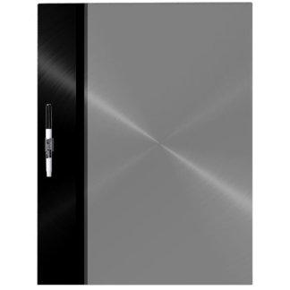 Metal brillante negro fresco del acero inoxidable pizarra blanca