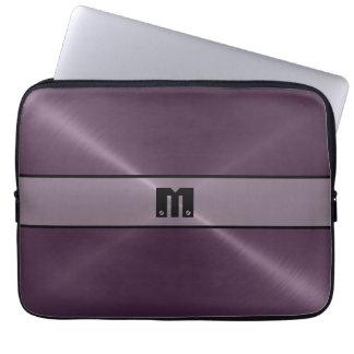 Metal brillante púrpura 2 del acero inoxidable mangas portátiles