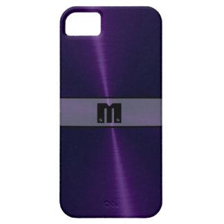 Metal brillante púrpura 6 del acero inoxidable iPhone 5 carcasas