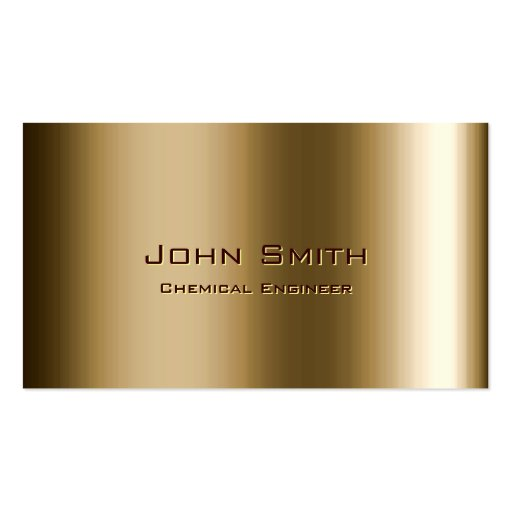 Metal Bronze Chemical Engineer Business Card