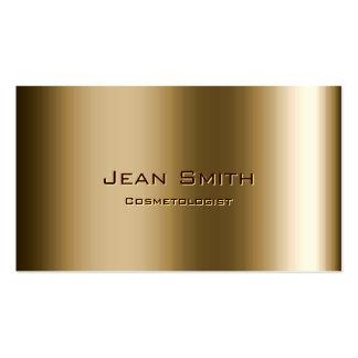 Metal Bronze Cosmetologist Business Card