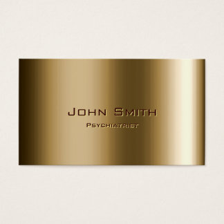 Metal Bronze Psychiatrist Business Card