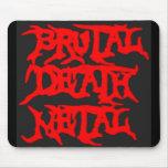 Metal brutal de la muerte tapete de ratón