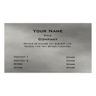 Metal Business Card 2.0 -silver premium