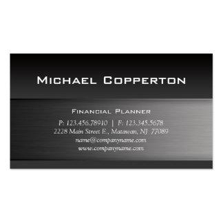 Metal Business Card Gray Header