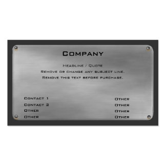 Metal Business Card II -silver