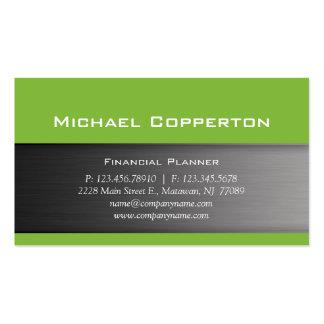 Metal Business Card Lime Green Header
