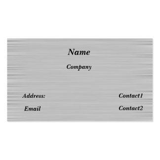 metal business card sleek