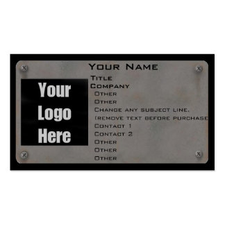Metal Business Card - with Logo