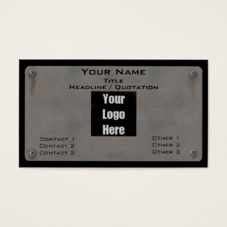 Metal Business Card - with Logo II