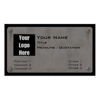 Metal Business Card - with Logo III