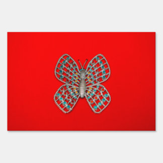 Metal butterfly signs