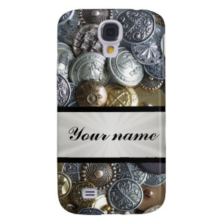 Metal Button Collection Galaxy S4 Cover