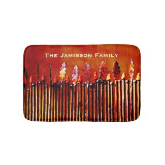 Metal Candles Personalized Colorful Bath Mat