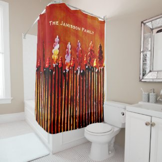 Metal Candles Personalized Colorful Shower Curtain
