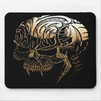 Metal Carved Skull Mousepad