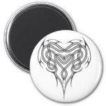 Metal Celtic Heart Knot Fridge Magnet