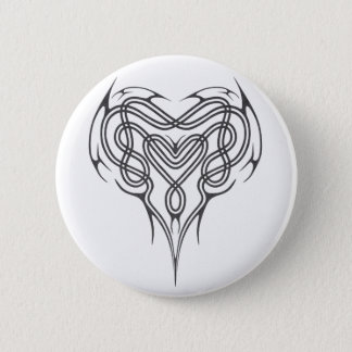Metal Celtic Heart Knot Pinback Button