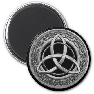 Metal Celtic Trinity Knot 2 Inch Round Magnet