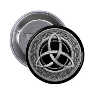 Metal Celtic Trinity Knot Button